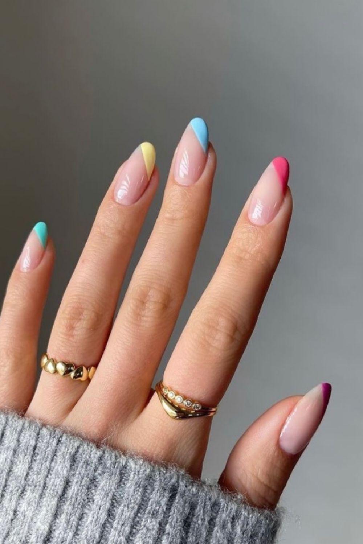 rainbow nails design nailart