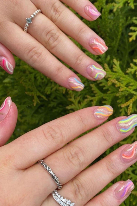 rainbow nails design