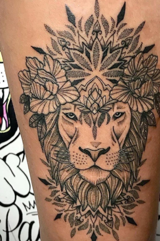 lion tattoo ideas for women
