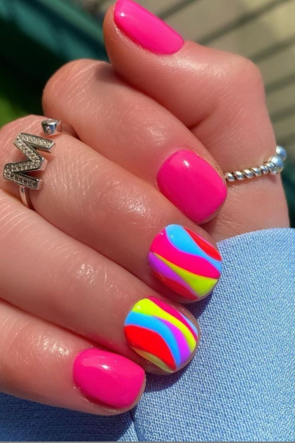 rainbow nails for summer nails colors