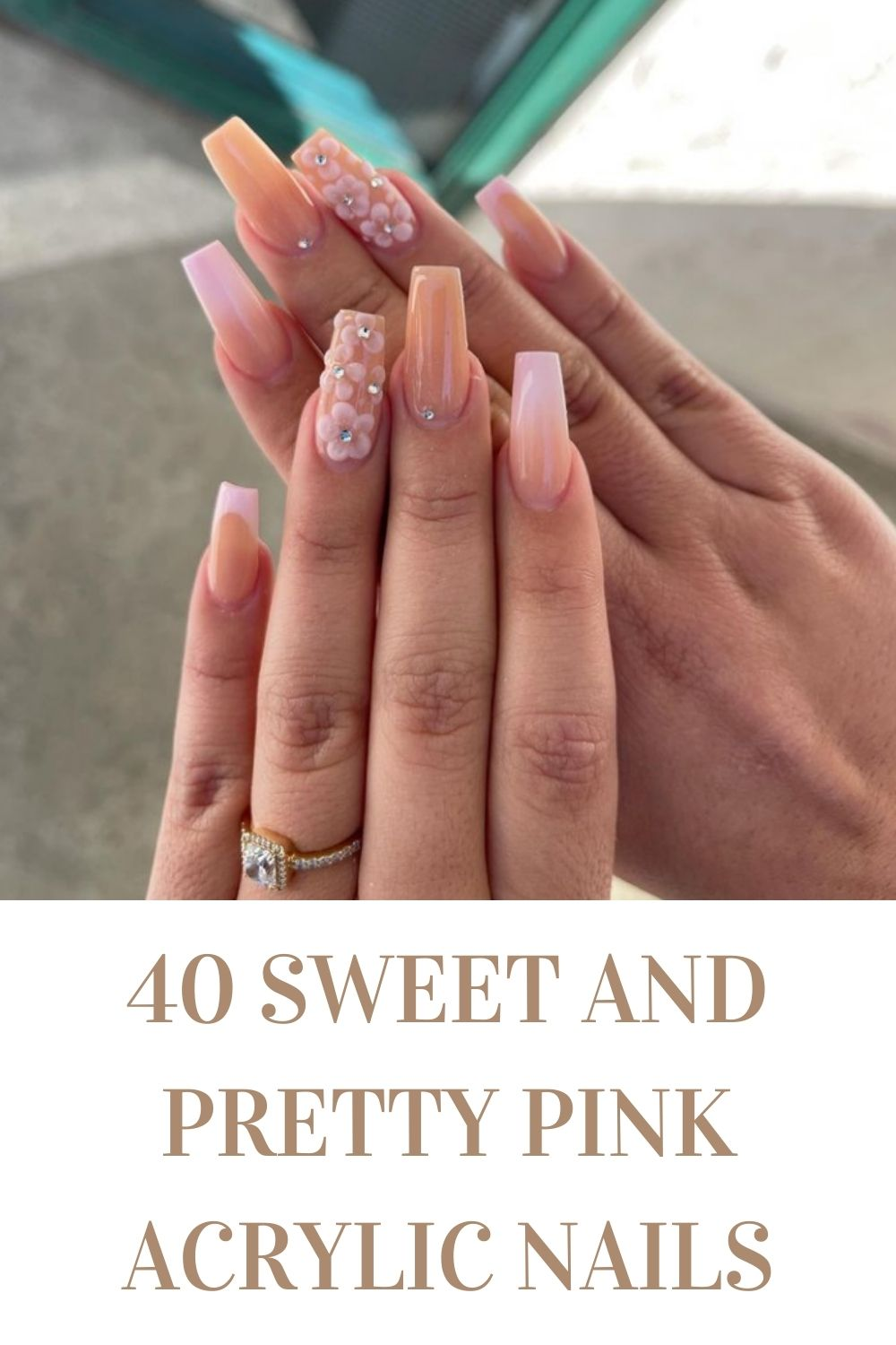 Pink Acrylic Nails: 40 Summer Nail Designs To Copy In 2021!