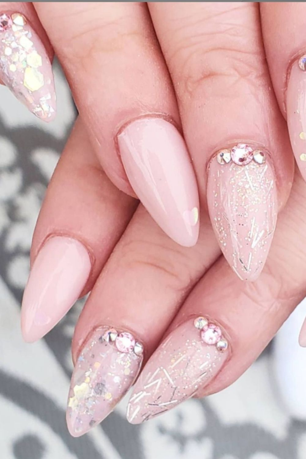 Glitter Acrylic Nails:40 Awesome Summer Nail Designs To Inspire You!
