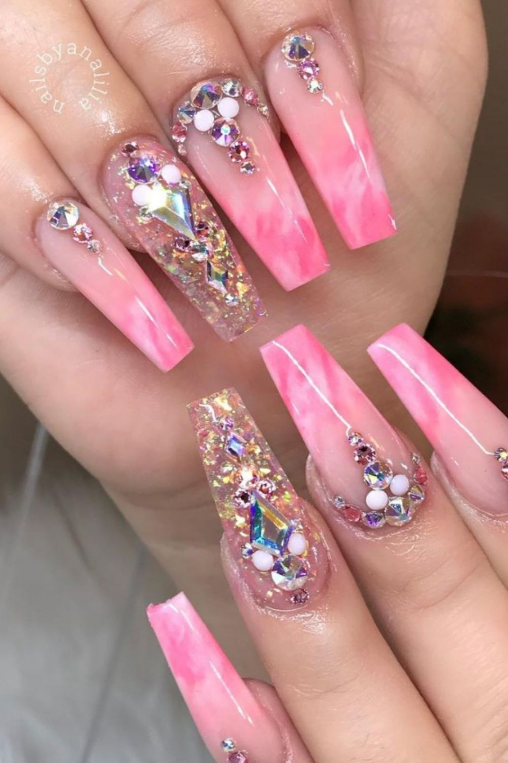 pink ombre nails design 2021