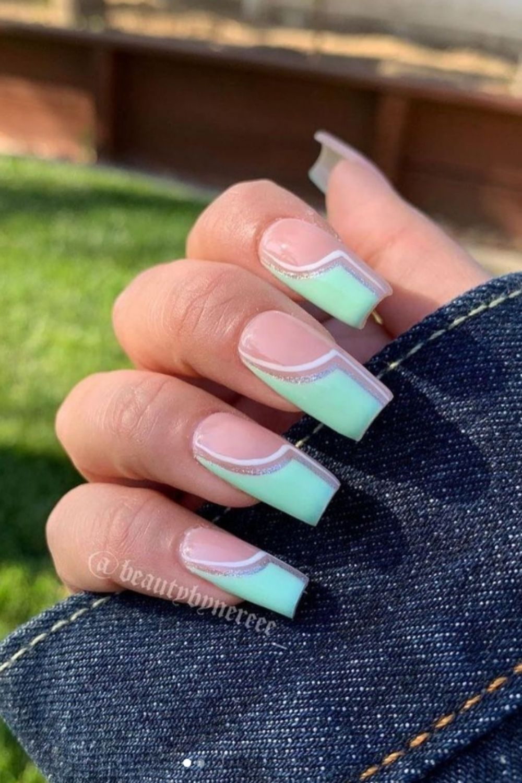 40+ Fresh summer beach nails for 2021 vacation