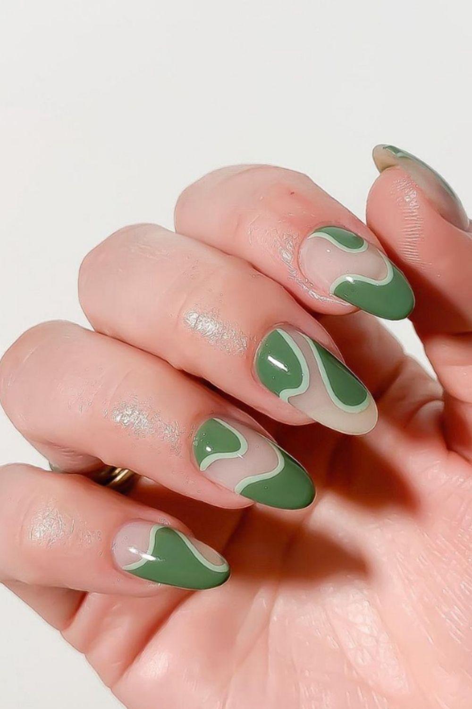 40 Cute Almond Short Acrylic Nails For Summer Nail Design