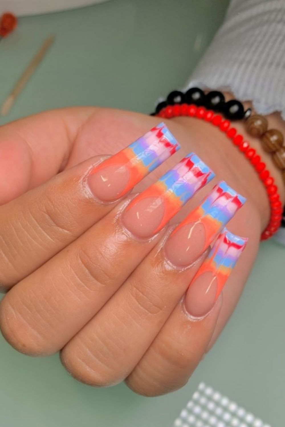 Hottest Tie Dye Nails to Fit Your Beach Look This Summer