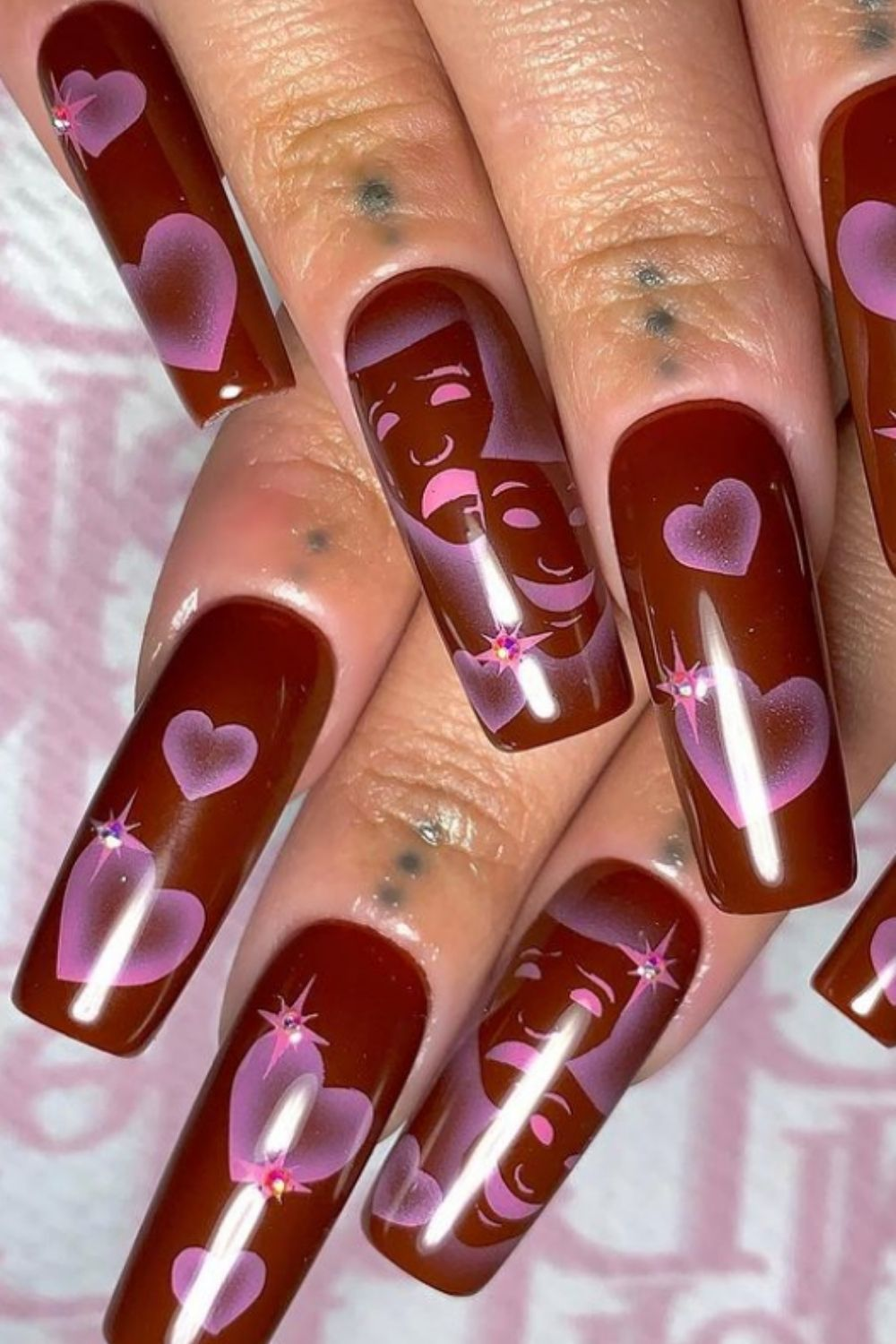 Coffin fall nails | 35 gorgeous coffin shape nails design