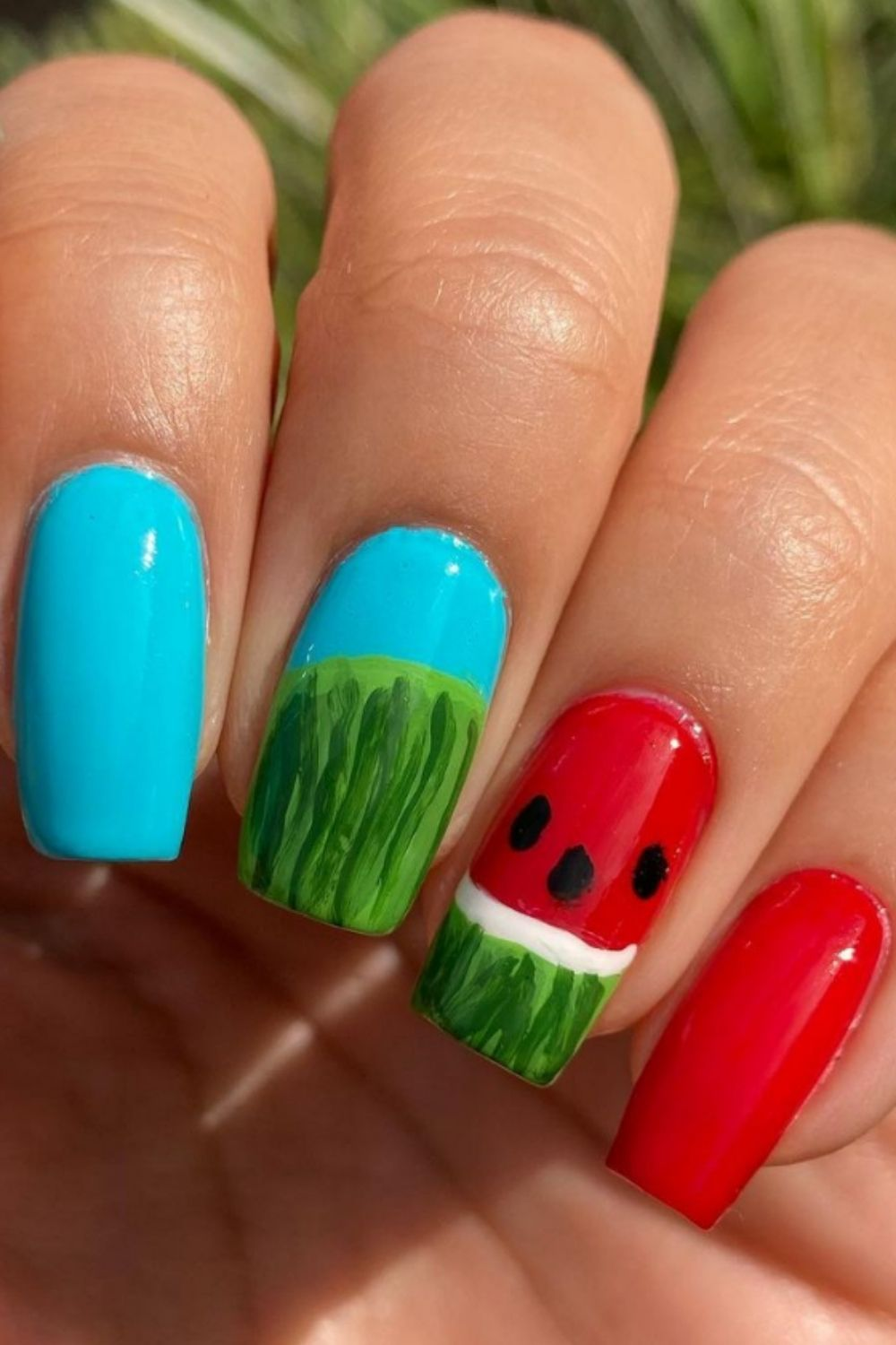 Coffin nails with French tip  35 Cute Nails With French Tips To DIY Now