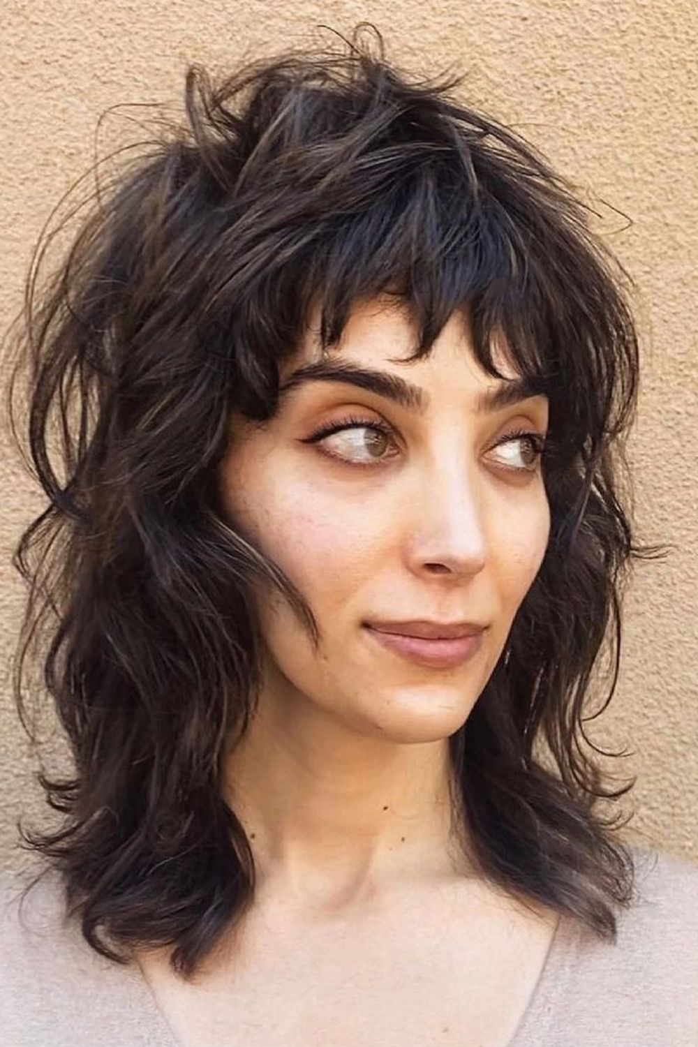 24 Best Layered Haircuts With Bangs for medium length hairstyle!