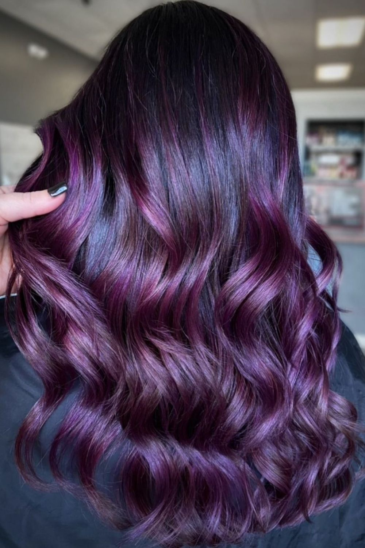 Best purple hair color for Fall hair colors and hair dye ideas 2021