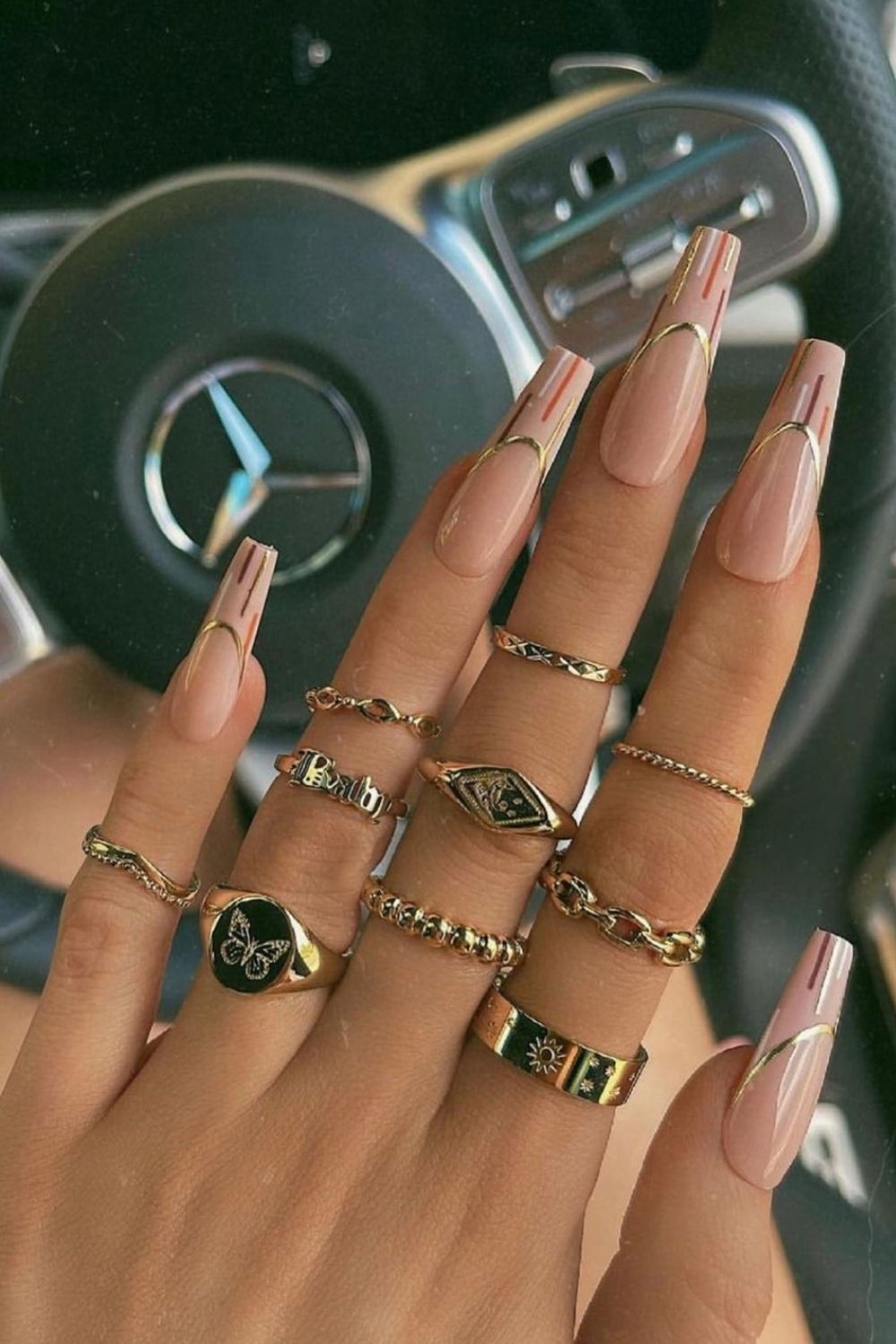 30 Trendy Fall coffin nails inspiration for Autumn 2021