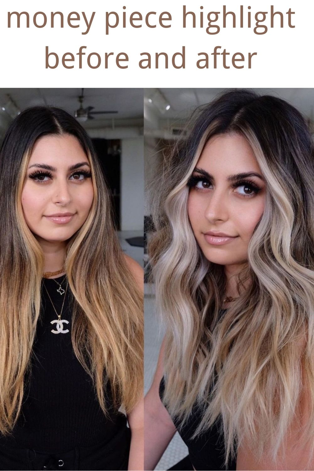 Alluring Money Piece Hair Highlights for a Face-Framing Hair Trend