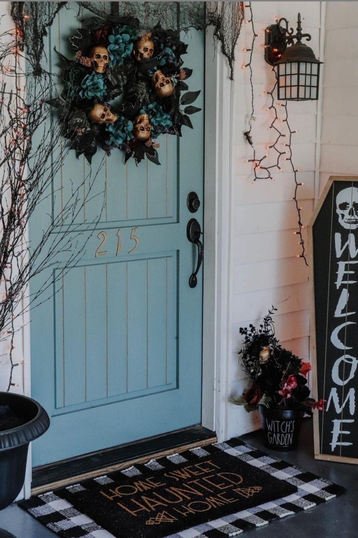 48 Creative Outside Halloween porch decoration ideas 2021