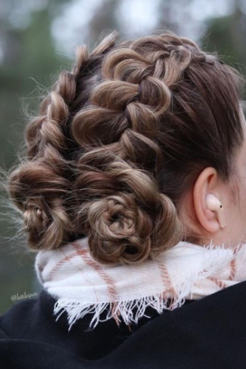 Double braids for homecoming hairstyles updo