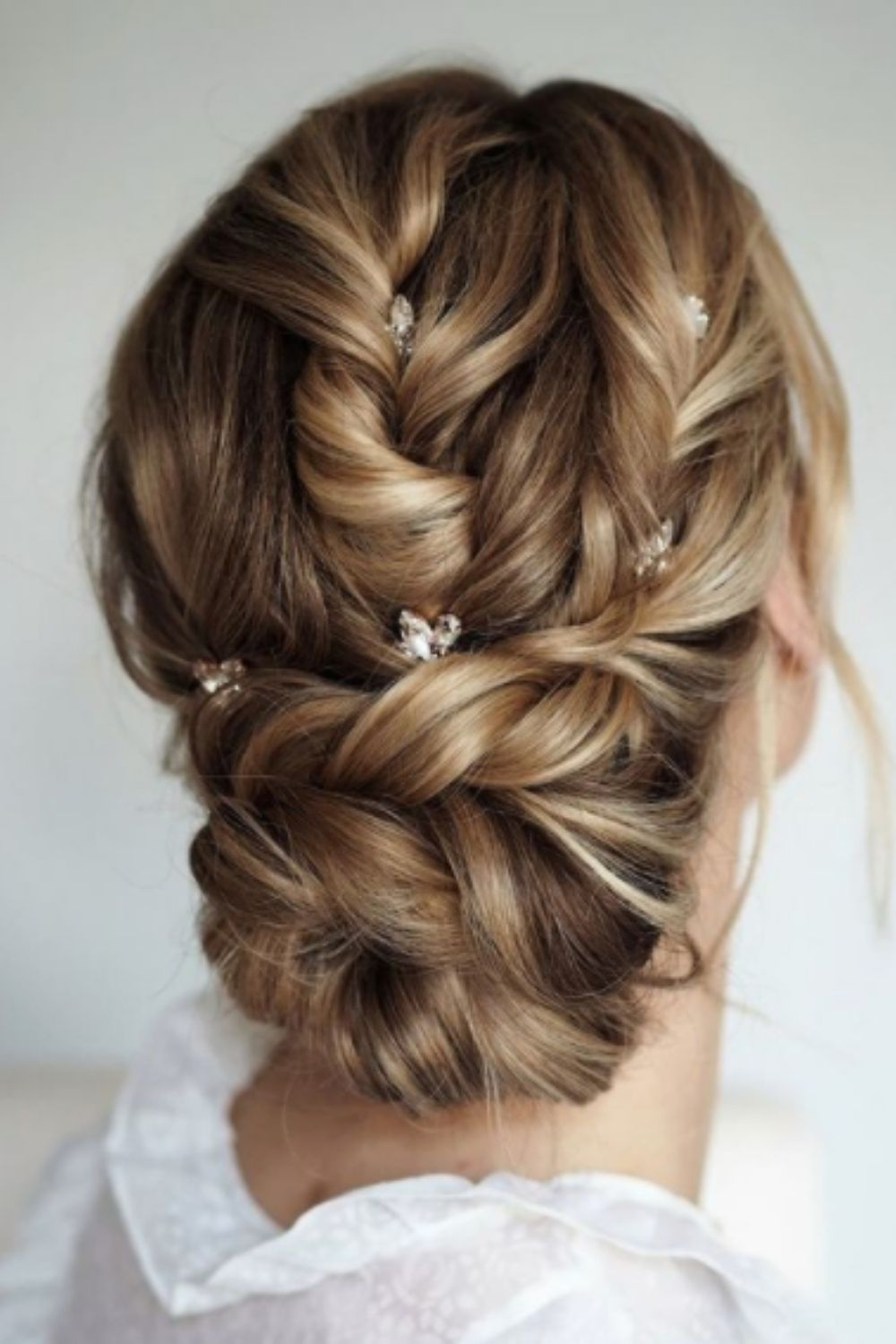 Crown braided hair for homecoming