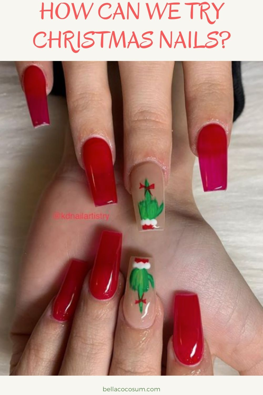 How can we try Christmas nails?
