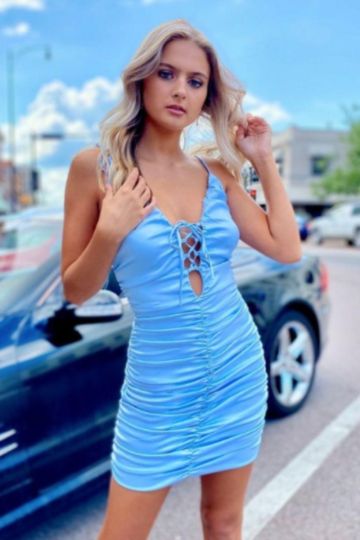 Blue homecoming dresses