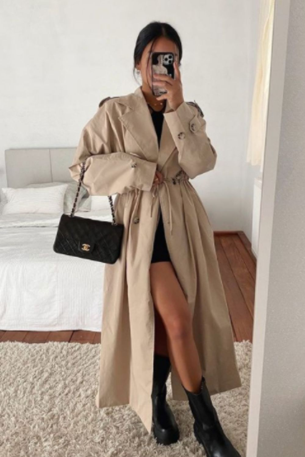 Cute fall outfits for school with coat