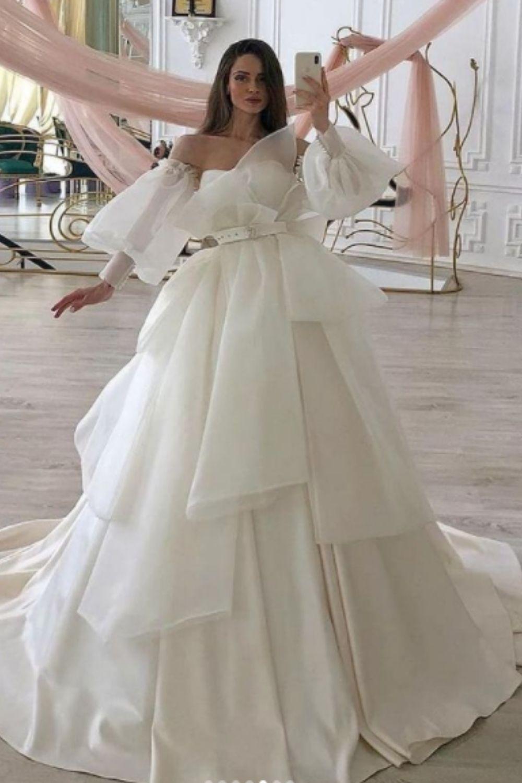 Layered greek vintage wedding dress ideas