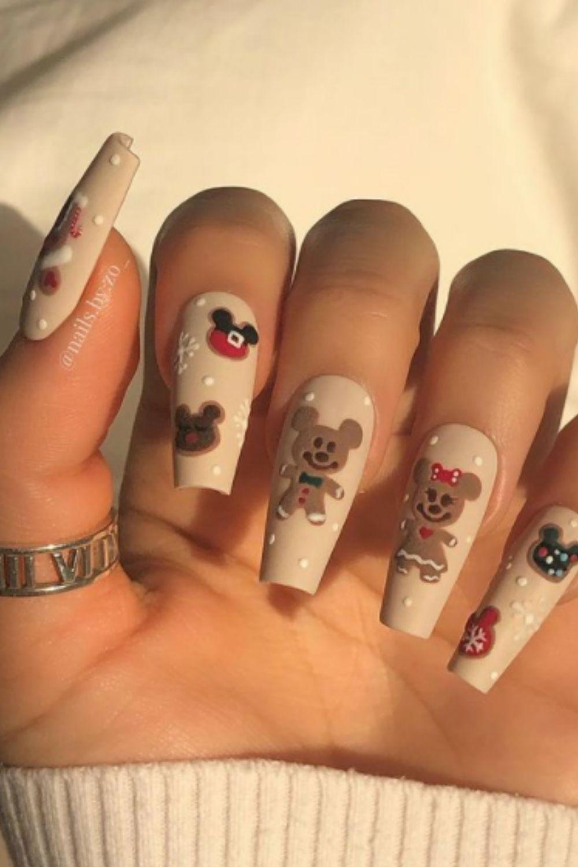Christmas nails with creative nails art